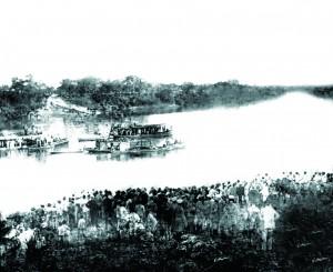 Chegada dos Salesianos ao Porto de Cuiabá, em 1894.