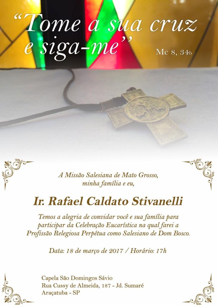 Convite - Profissão Religiosa Perpétua - conteudo