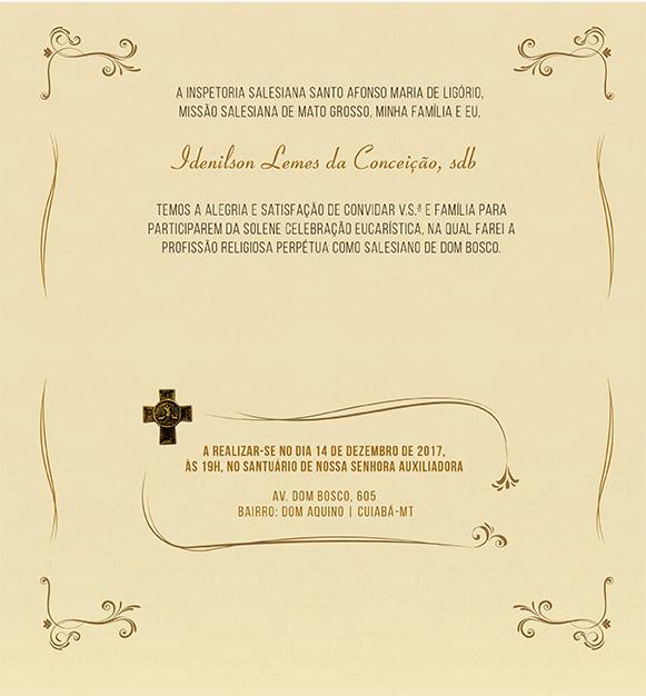 Convite Idenilson